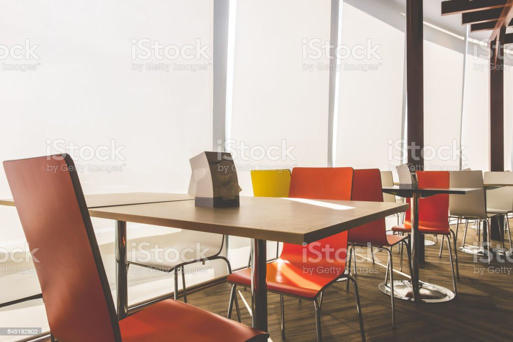 Tables And Chairs In Restaurant Vintage Color Stock Photo Download Image Now Istock