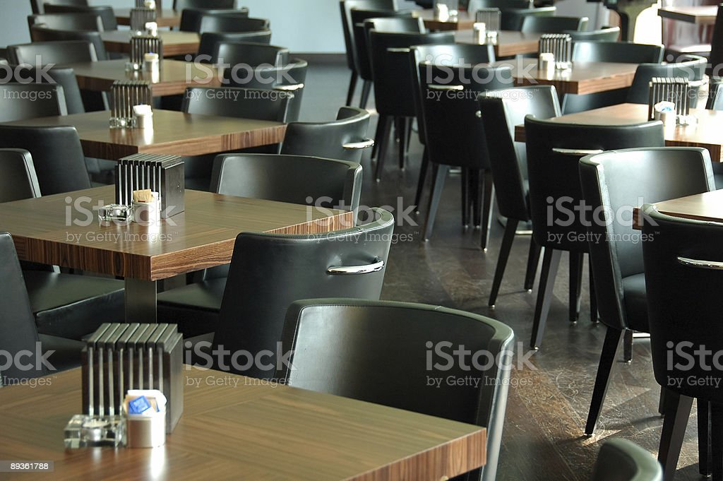 Tables and chairs royalty free stockfoto