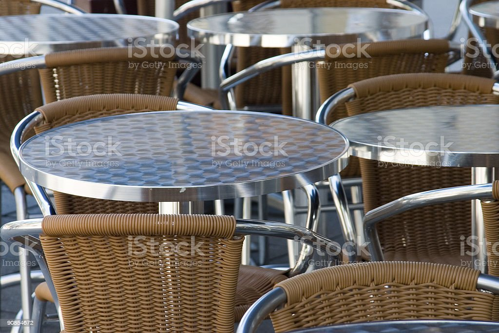 Tables and chairs royalty-free stock photo