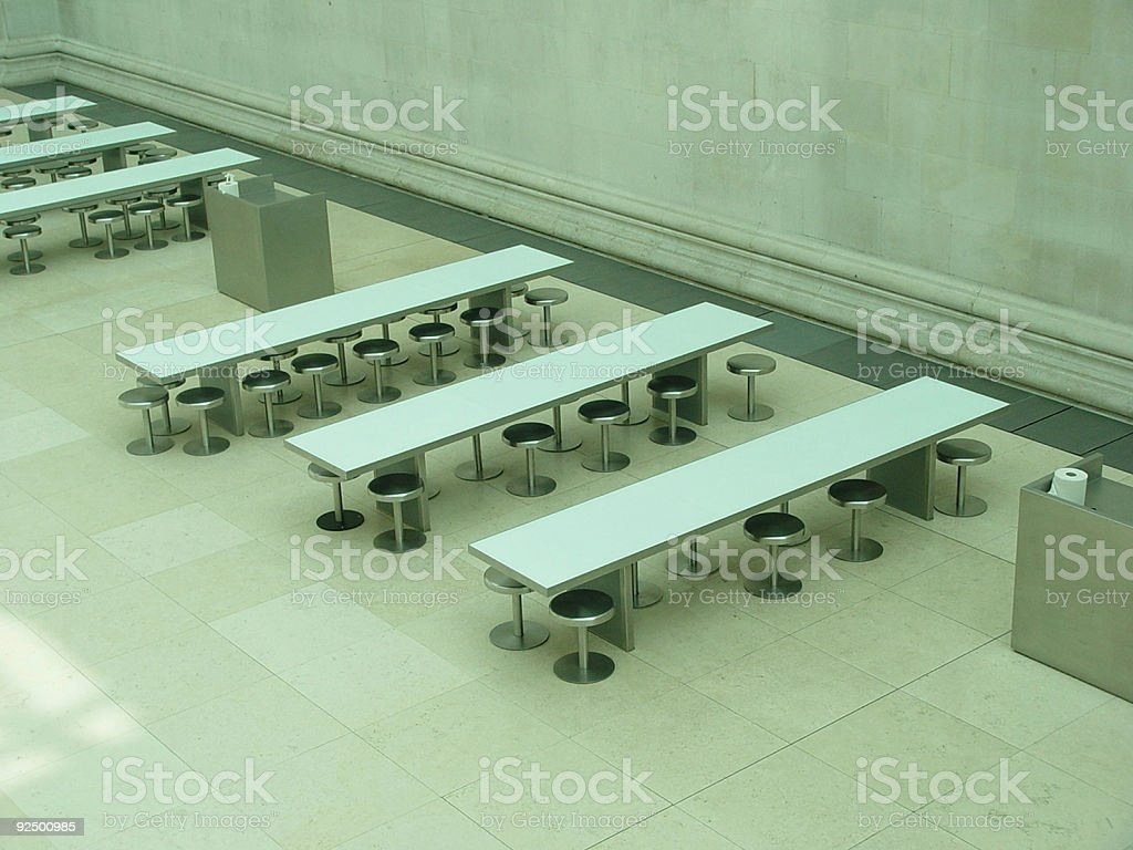 Tables and Stools royalty-free stock photo