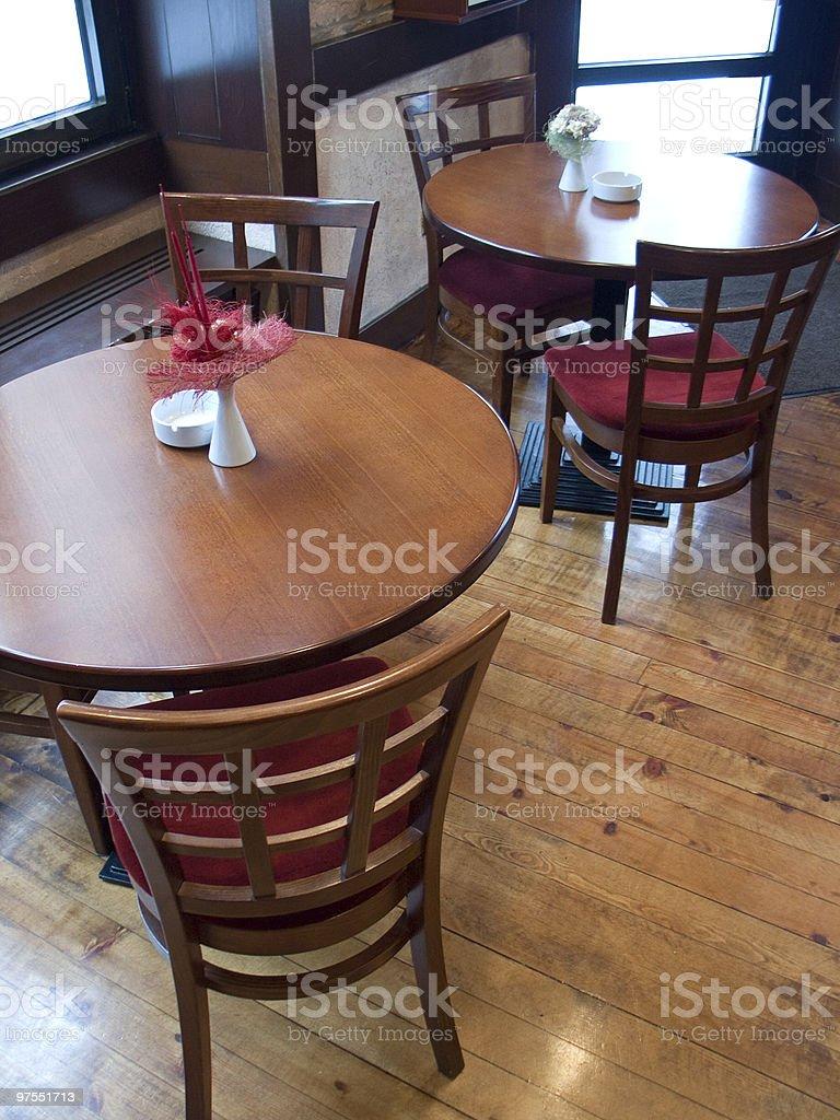 Tables in Italian restaurant royalty-free stock photo