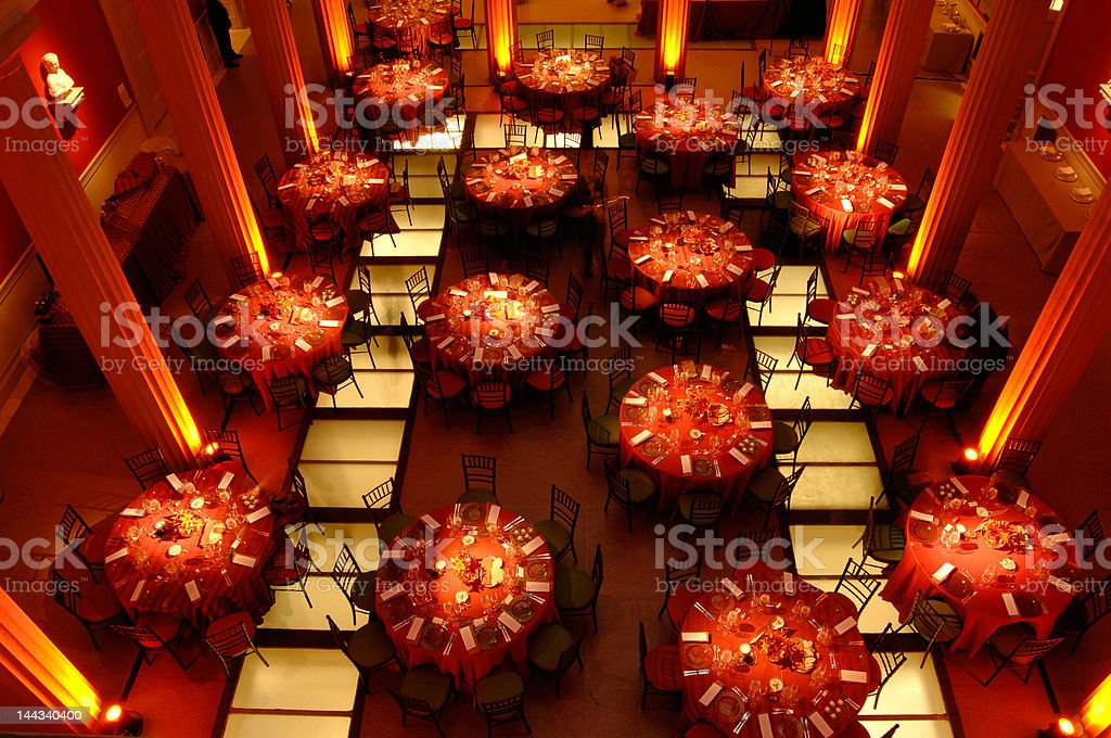 Tables stock photo