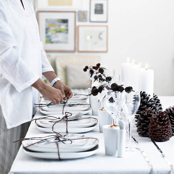 Tablesetting stock photo