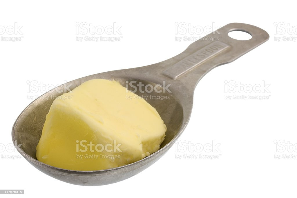 tablespoon of butter royalty-free stock photo