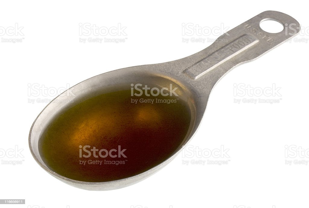 tablespoon of sesame oil stock photo