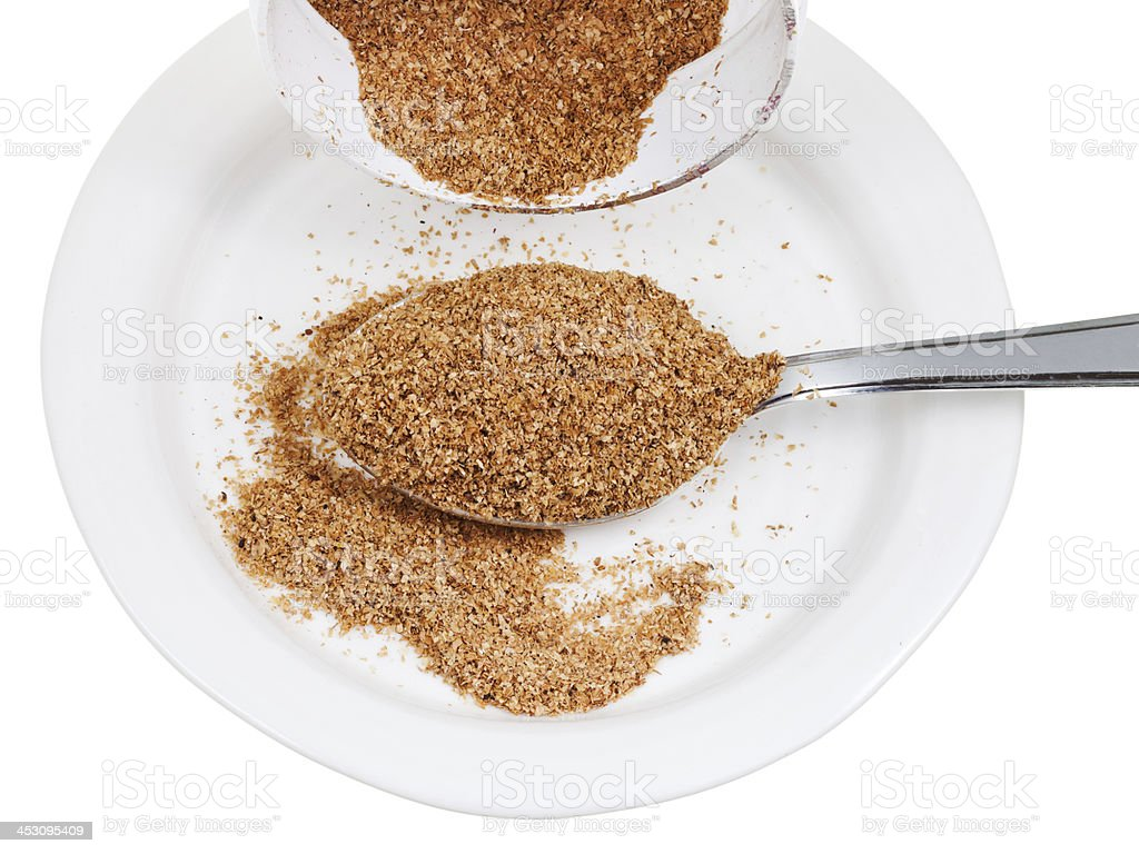 tablespoon of wheat bran royalty-free stock photo