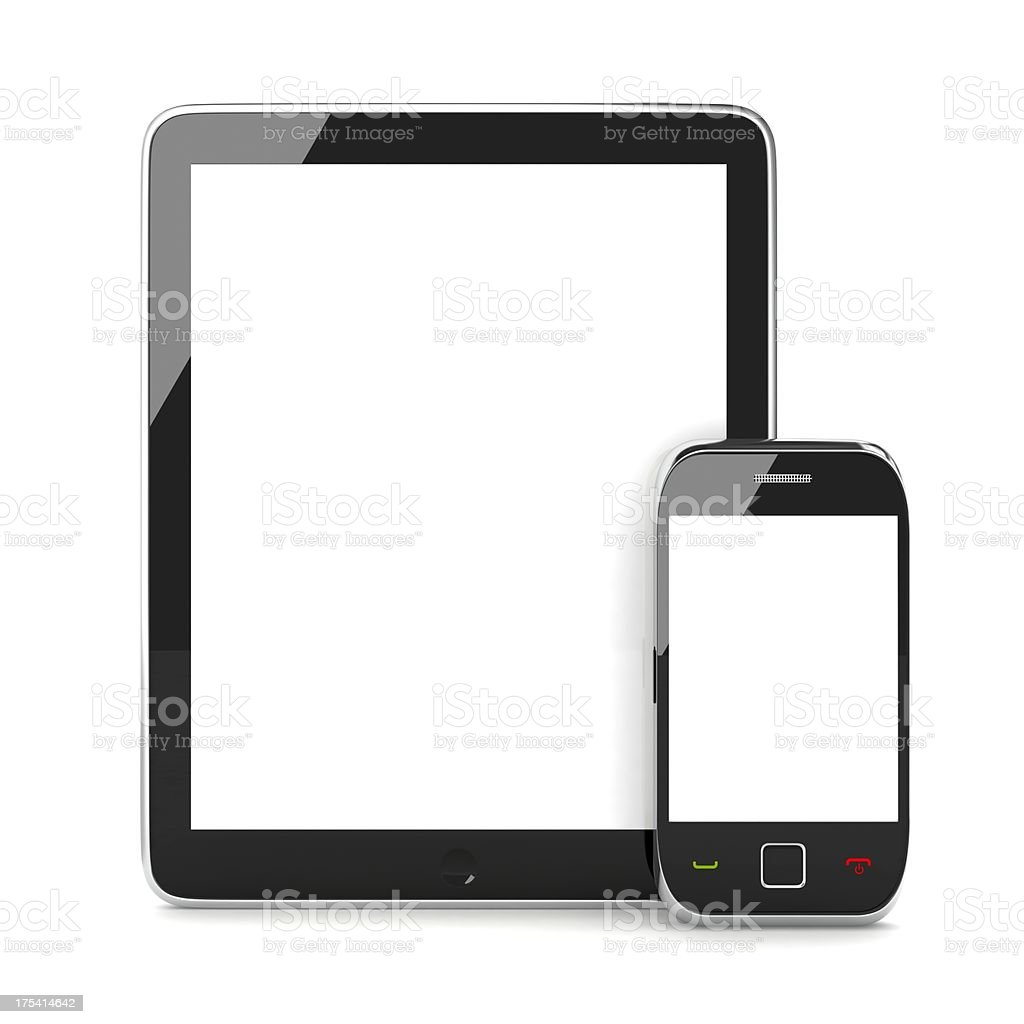 Tablet and Mobile Phone royalty-free stock photo