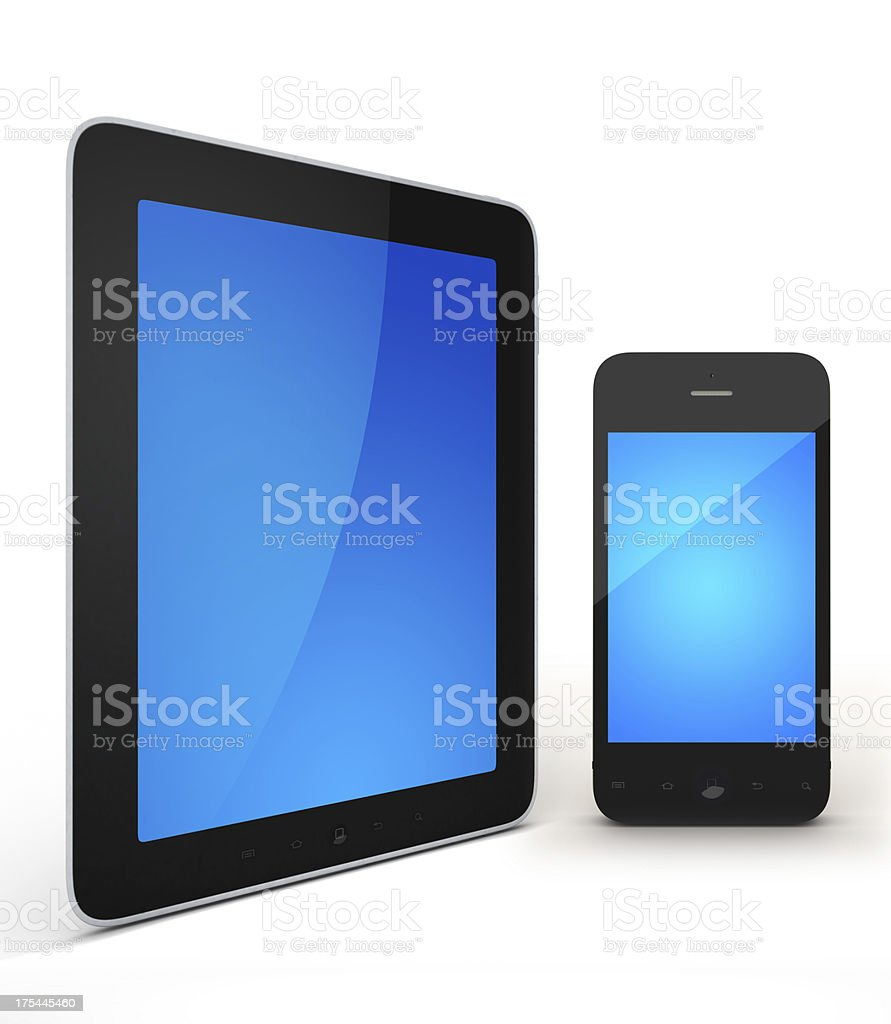tablet and mobile royalty-free stock photo