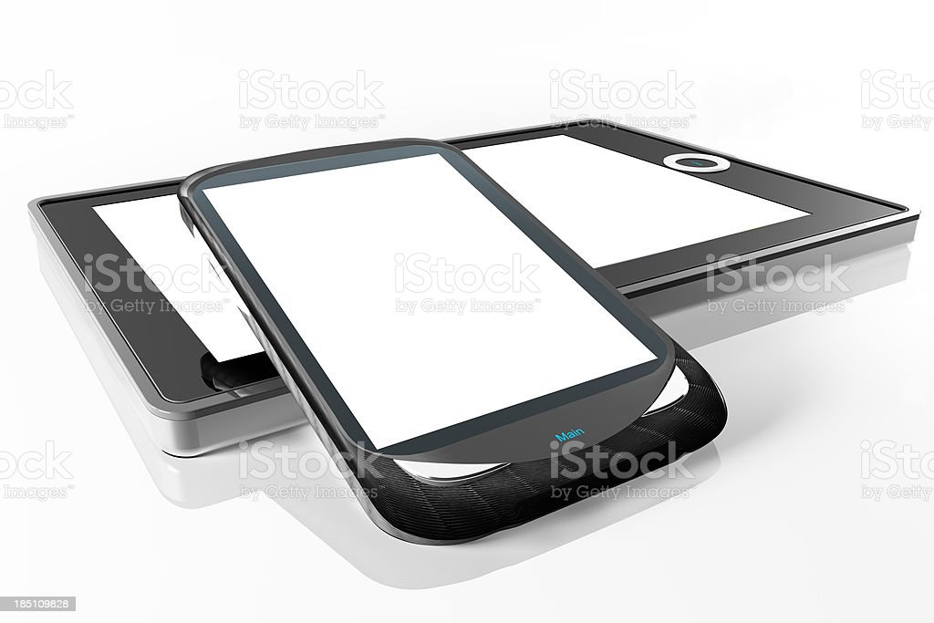Tablet and mobilephone royalty-free stock photo