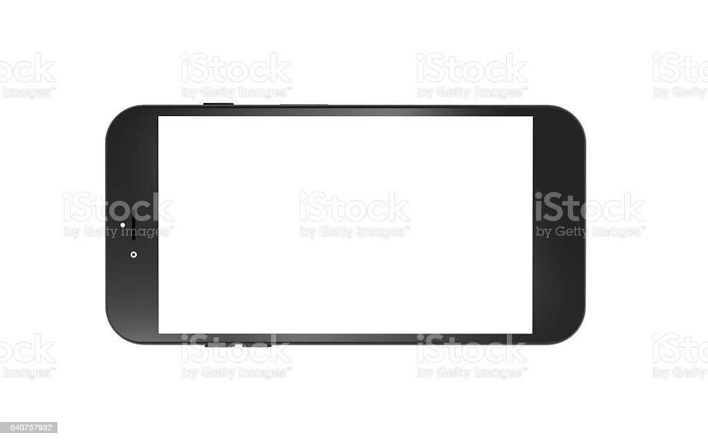 Tablet and Smart Phone horizon isolated stock photo