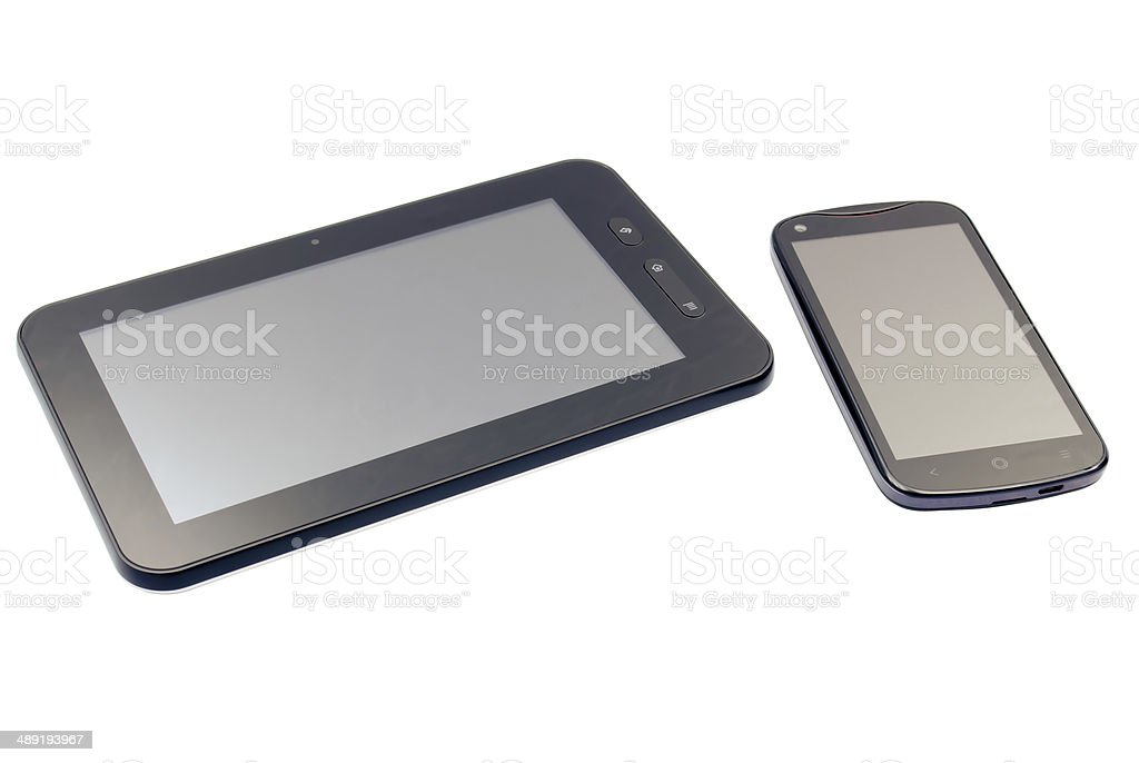 Tablet and Smartphone stock photo