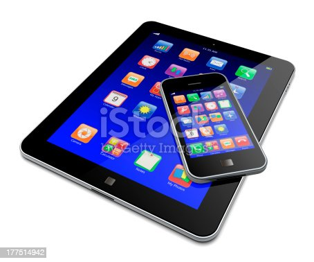 istock Tablet and smartphone showing adaptation of the same OS 177514942