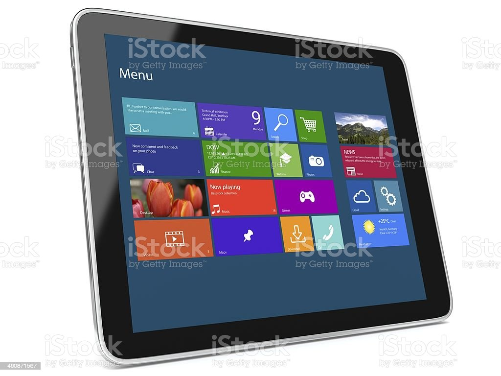 Tablet Applications Software stock photo