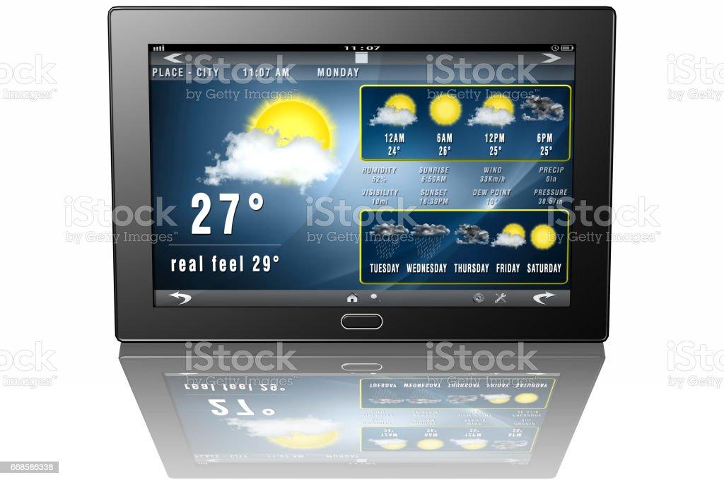 Tablet applicazione meteo 001 stock photo