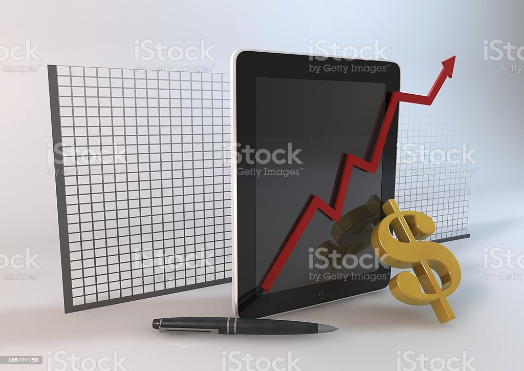 Tablet Business royalty-free stock photo