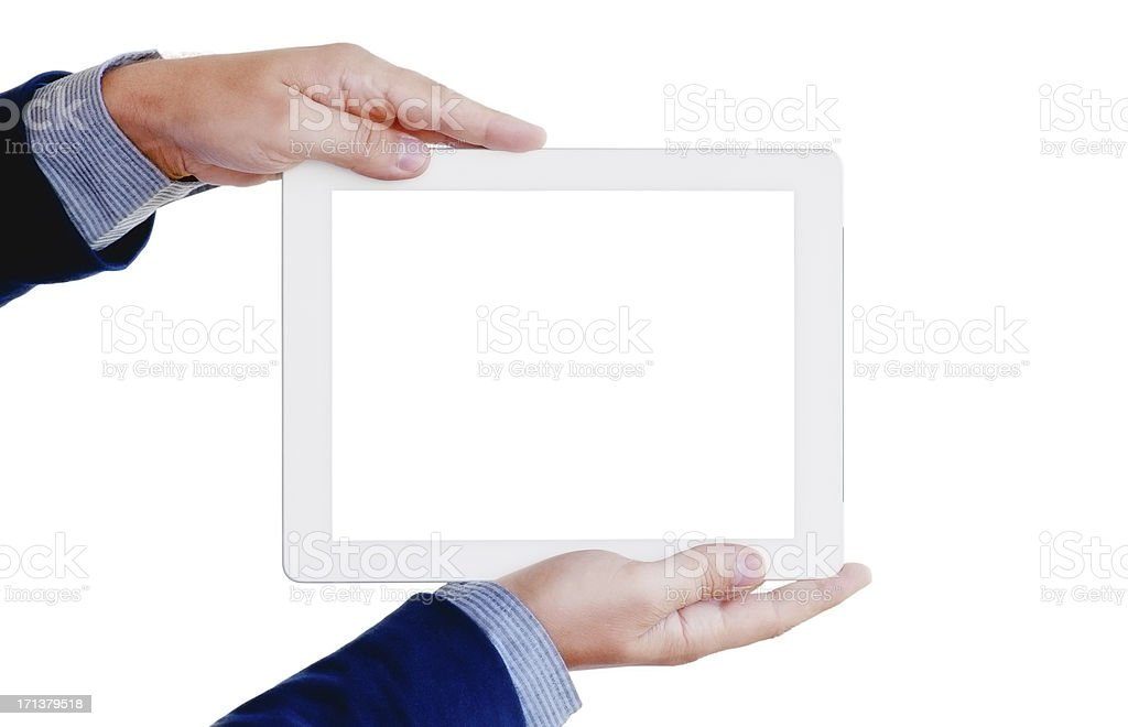 Tablet Computer - clipping path for screen royalty-free stock photo