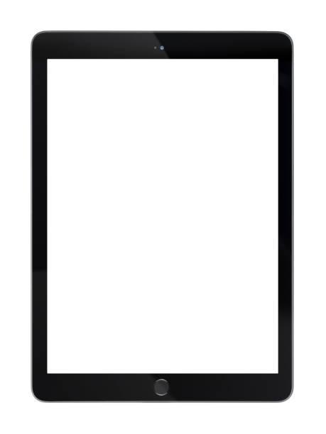 display tablet con schermo bianco vuoto - tablet foto e immagini stock