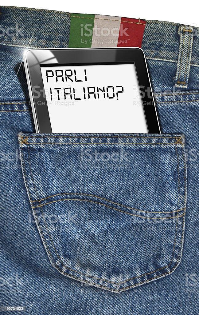 Tablet Computer - Italian Everywhere stock photo