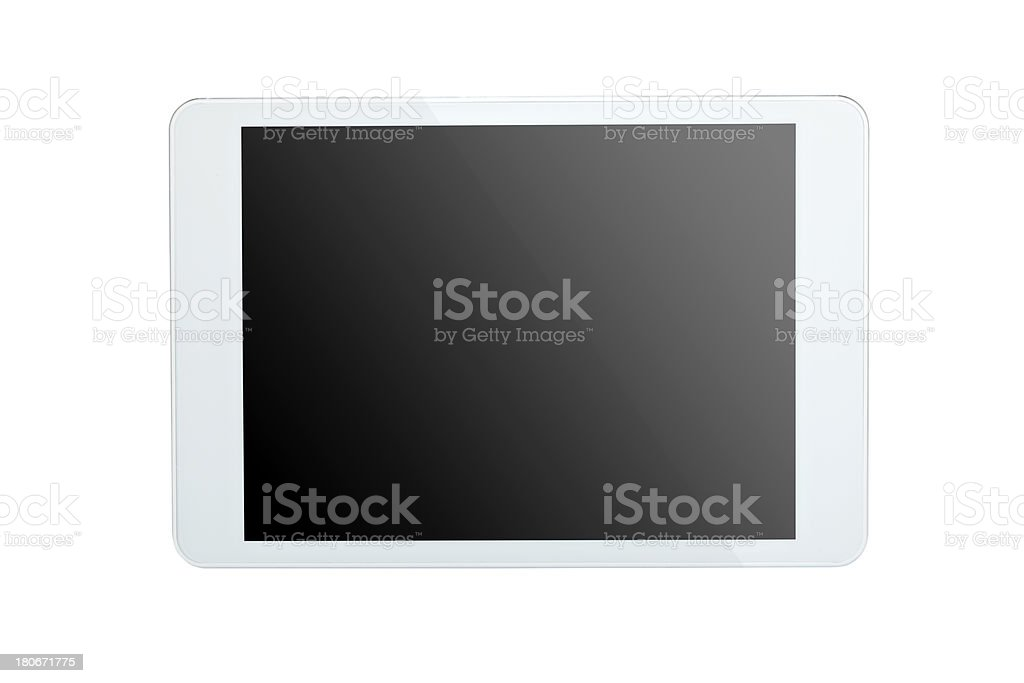Tablet computer on white background with clipping path royalty-free stock photo