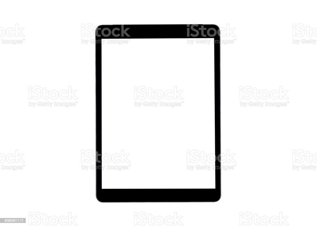 Tablet-Computer PC mit leeren Bildschirm mock-up isoliert auf weißem Hintergrund. Tablet-Computer. weiße Tablet-Bildschirm. Leeren Raum für Text. Blanc leeren Bildschirm. – Foto