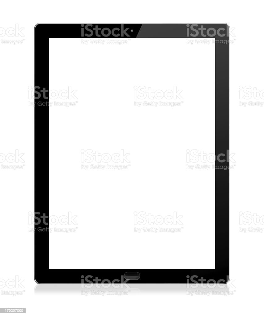Tablet Computer Tablet computer with blank (white) screen. Isolated on white background. Blank Stock Photo