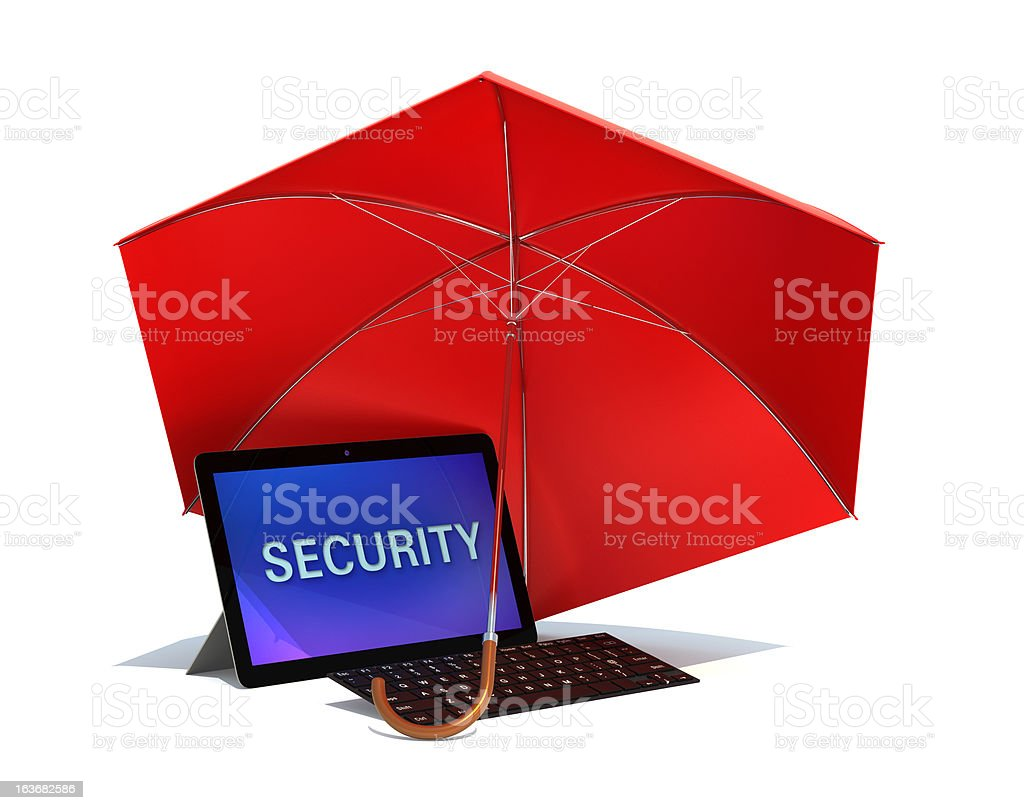 tablet computer security concept royalty-free stock photo