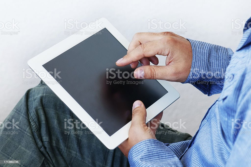 Tablet computer with blank screen royalty-free stock photo