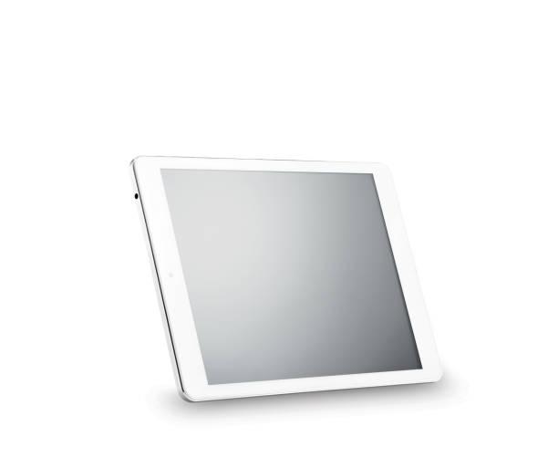 tablet pc avec un tracé de détourage - ipad photos et images de collection