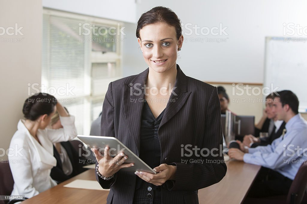 Tablet Computer Woman royalty-free stock photo