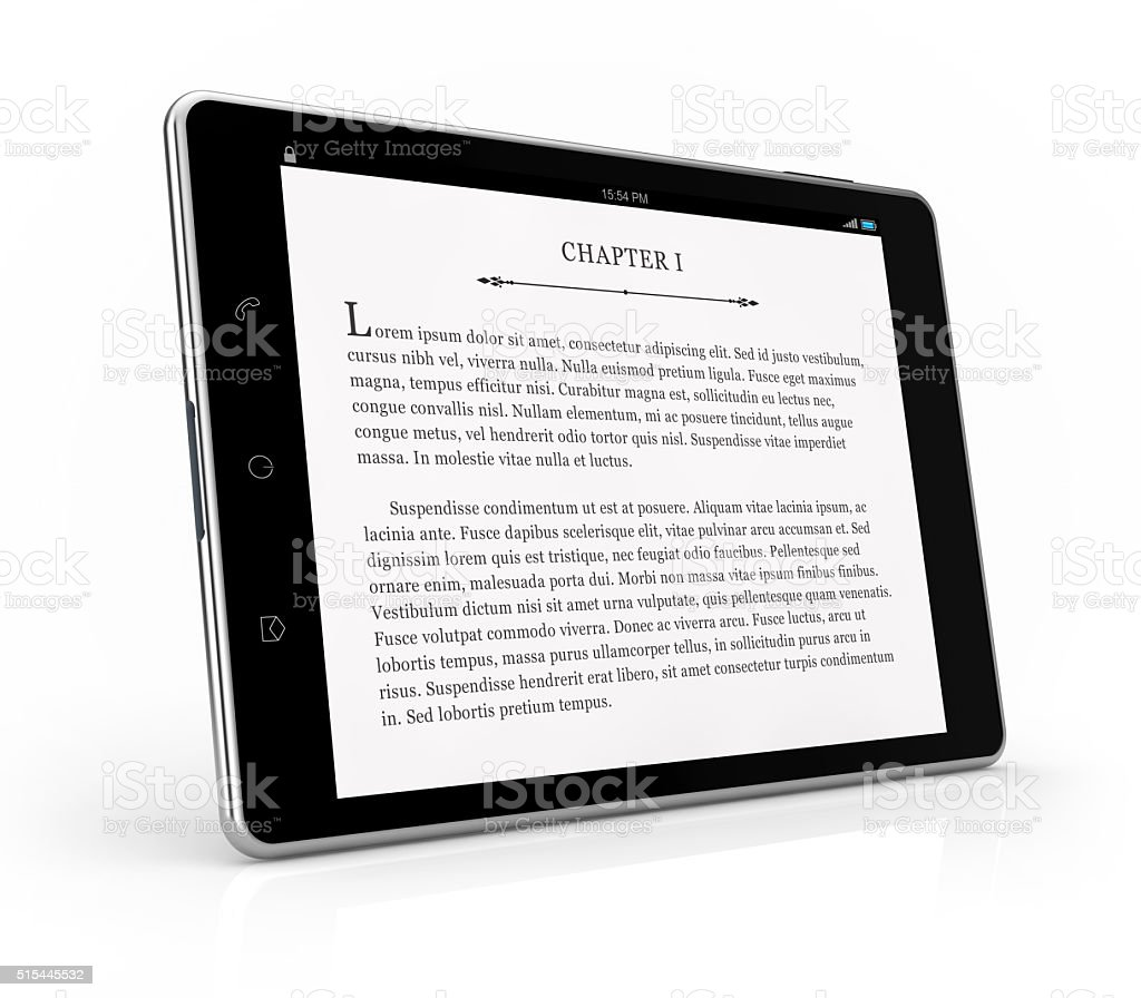 tablet ebook reader stock photo
