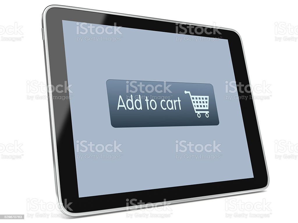 Tablet Internet Shopping stock photo