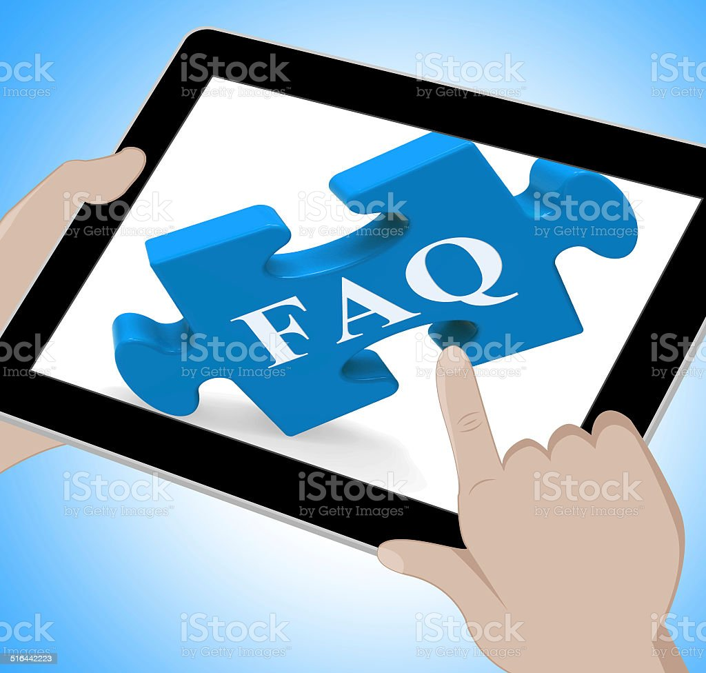 FAQ Tablet Means Website Solutions Help And Information stock photo
