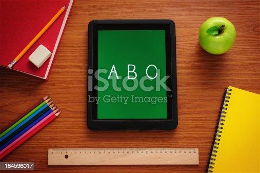istock Tablet PC at school 184596017