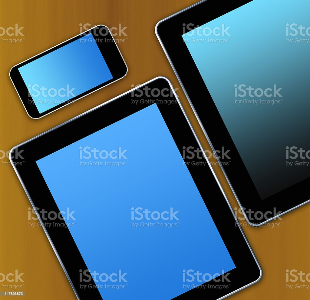 tablet pc background royalty-free stock photo