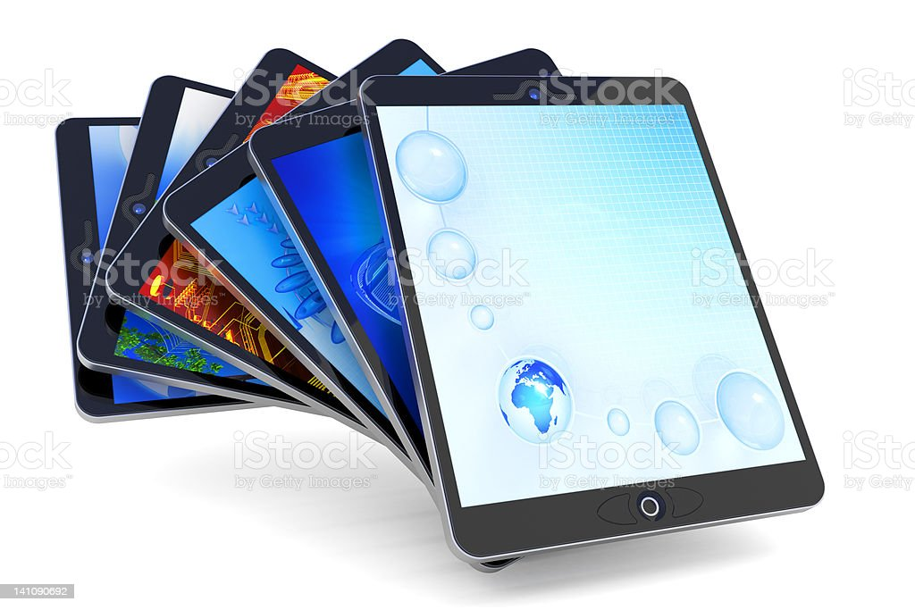 Tablet PC collection royalty-free stock photo
