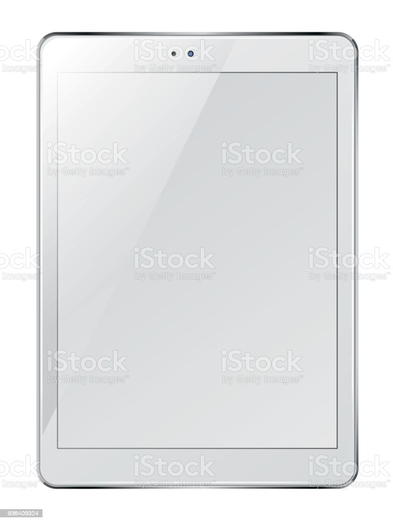 Tablet pc computer with blank screen. stock photo