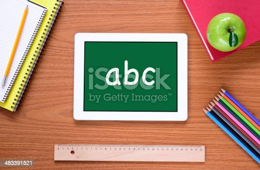 istock Tablet PC for education 483391521