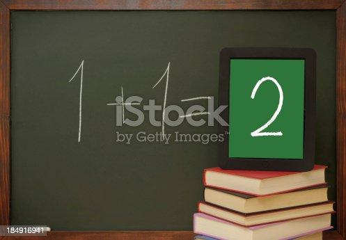 622006346 istock photo Tablet pc in school 184916941
