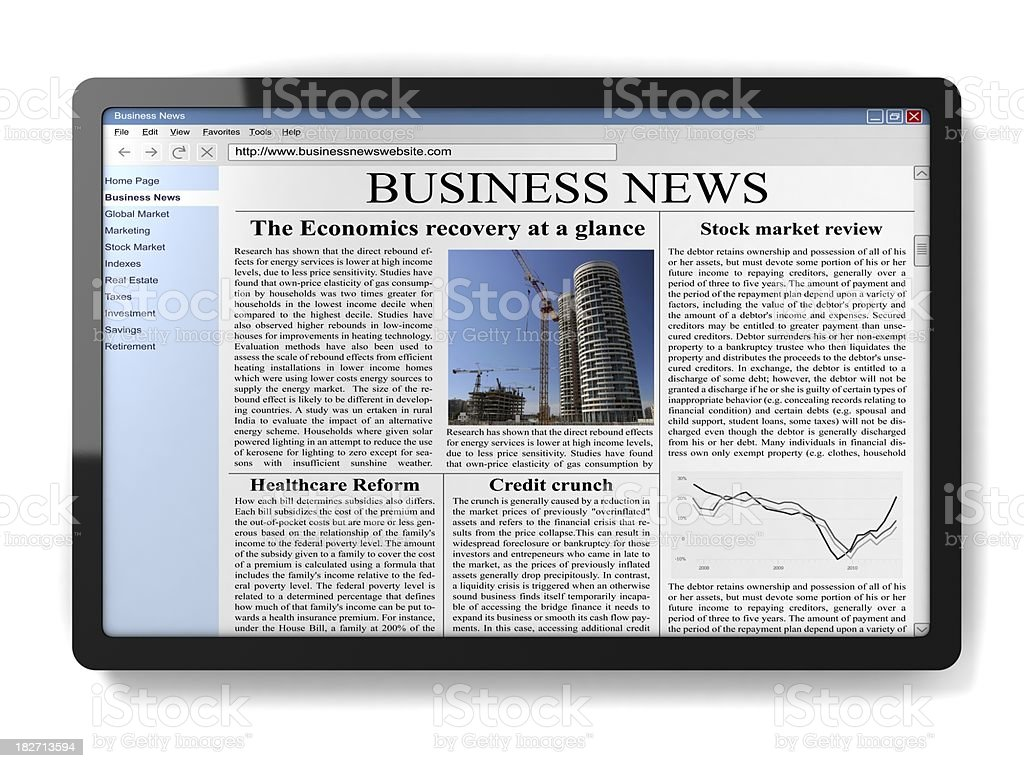 Tablet PC  Book Stock Photo