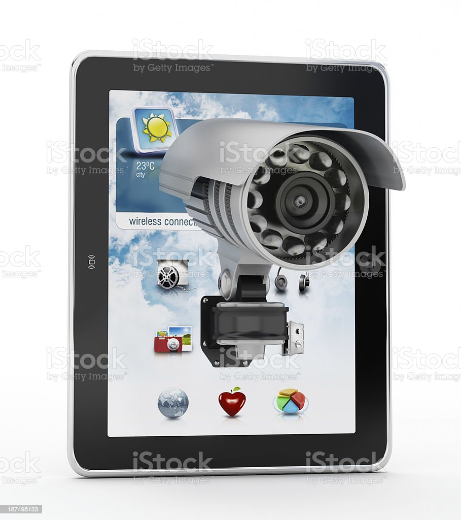Tablet PC security royalty-free stock photo
