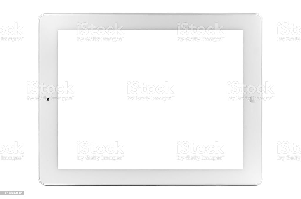 Tablet PC with clipping paths royalty-free stock photo