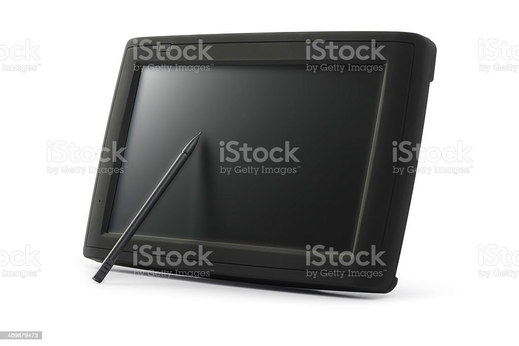 tablet PC with GPS (car navigation system) royalty-free stock photo