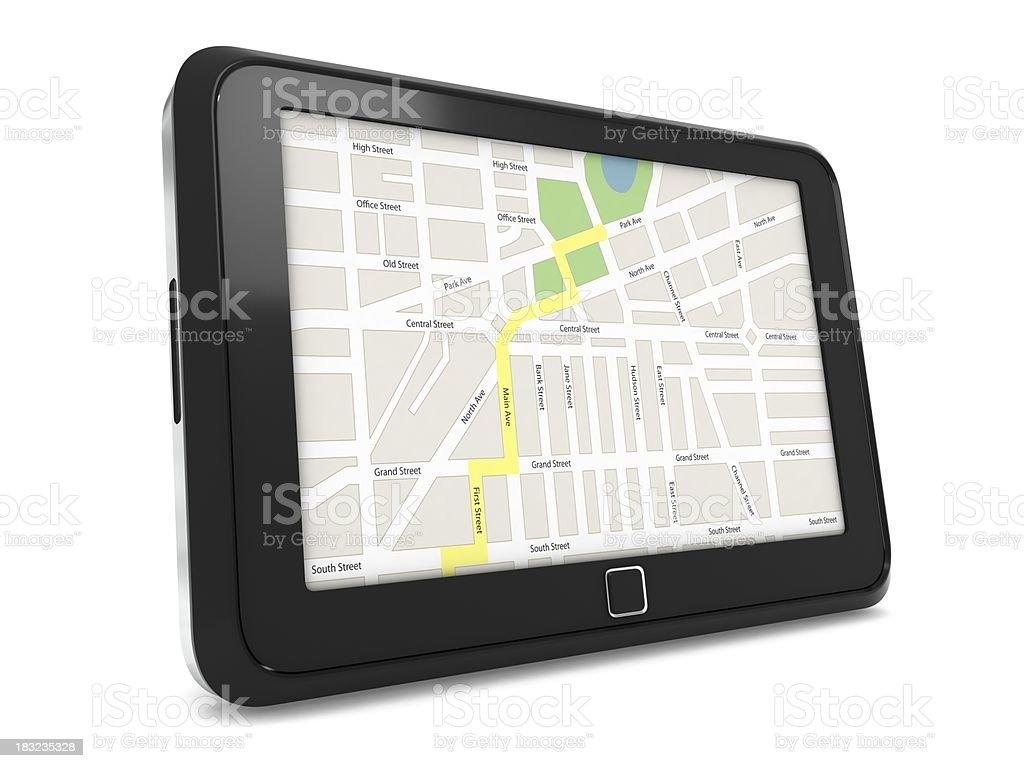 GPS Tablet royalty-free stock photo