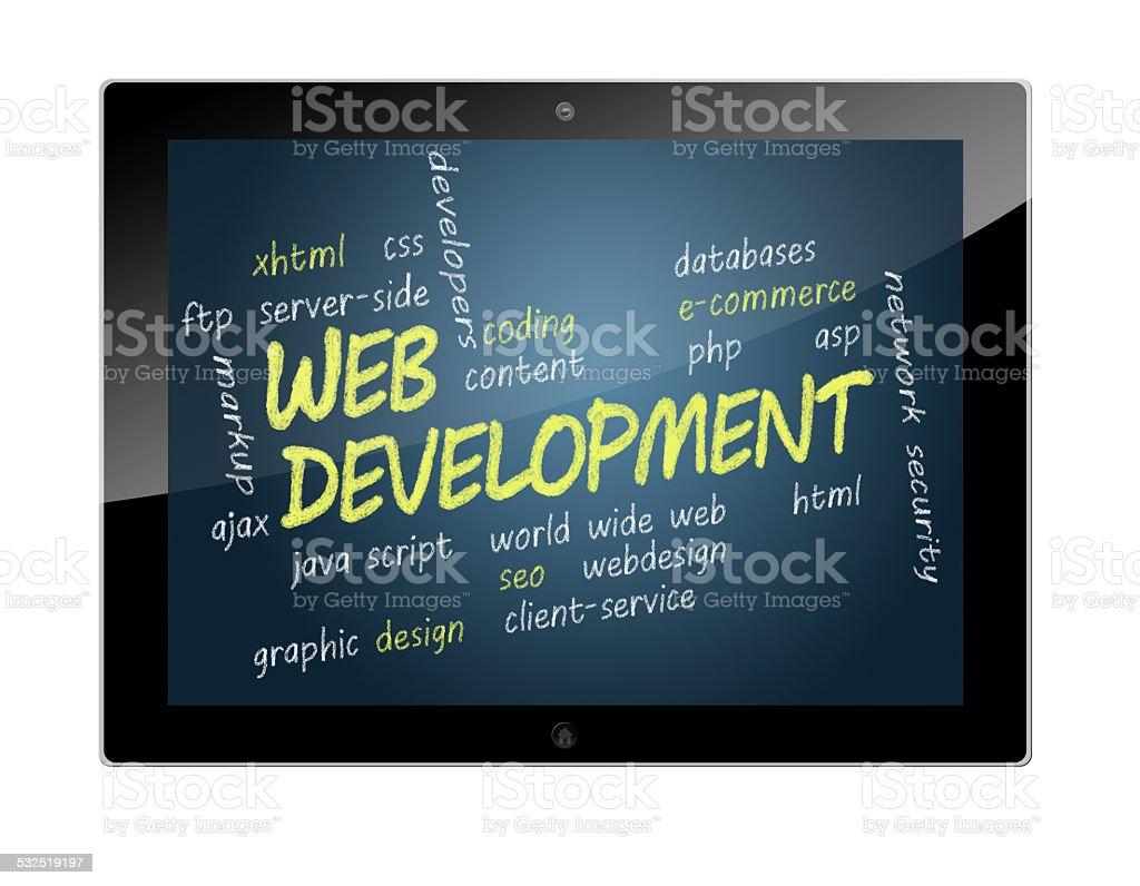 Tablet Web Development stock photo