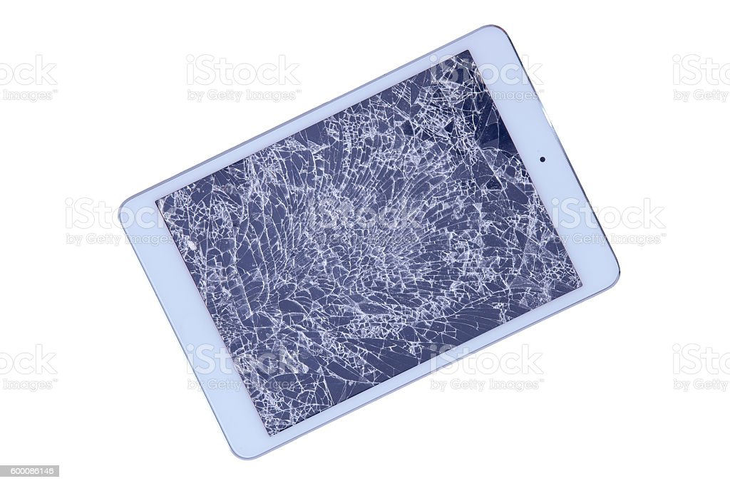 Tablet with a shattered screen - Photo