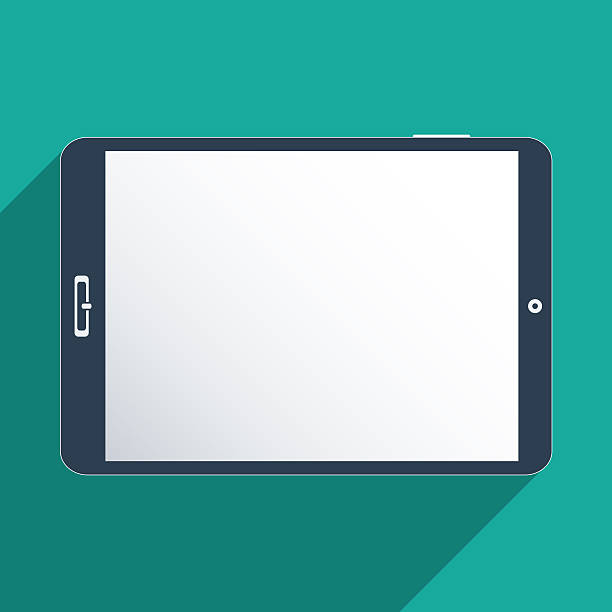 Tablet with blank screen stock photo