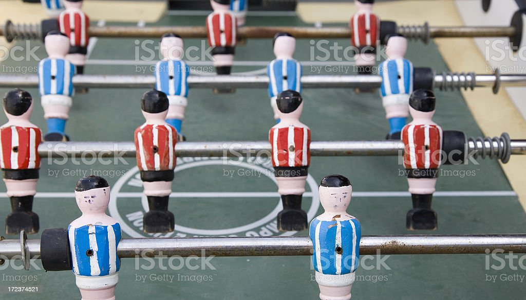 tabletop football game royalty-free stock photo