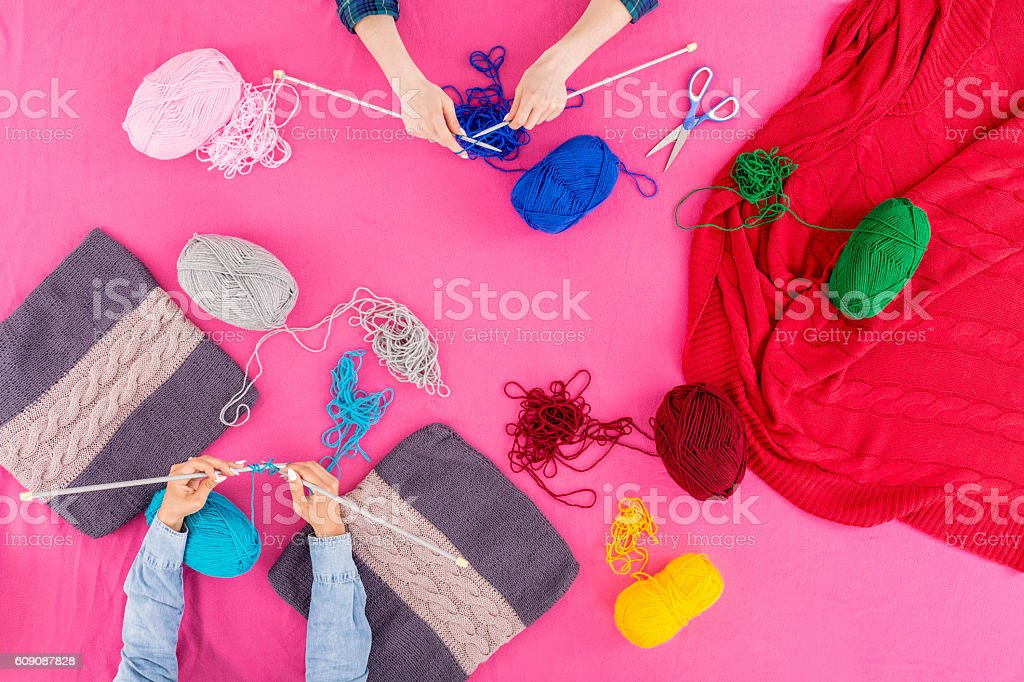 Tabletop full of colours stock photo