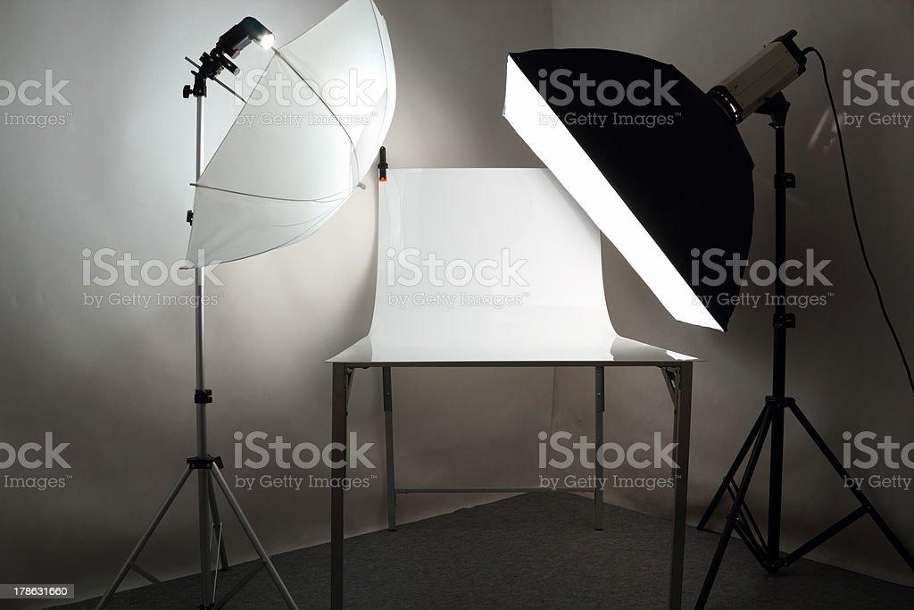Tabletop photo studio stock photo
