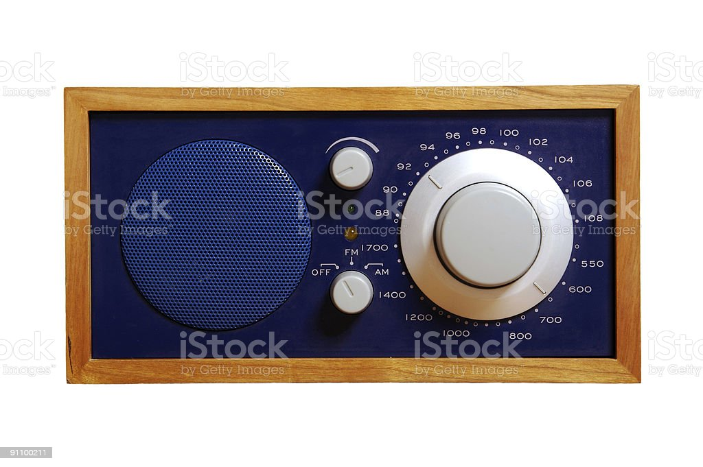 Tabletop Radio Isolated on White stock photo